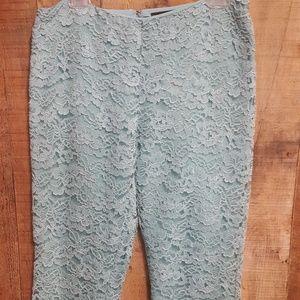 Ralph Lauren Black Label green/blue lace pants